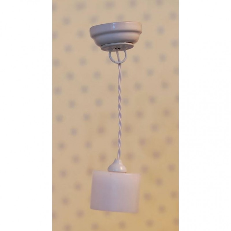 Streets Ahead White Cylinder Ceiling Light