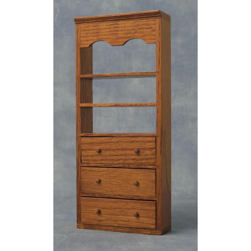 Babettes Miniaturen Oak Shelves 3 shelves
