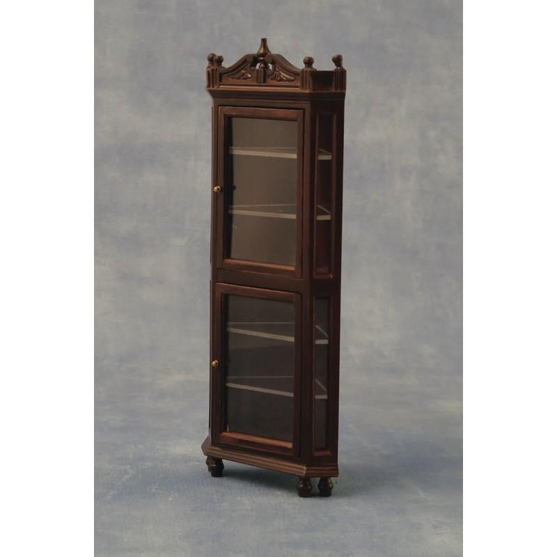 Babettes Miniaturen Oak Corner Cabinet
