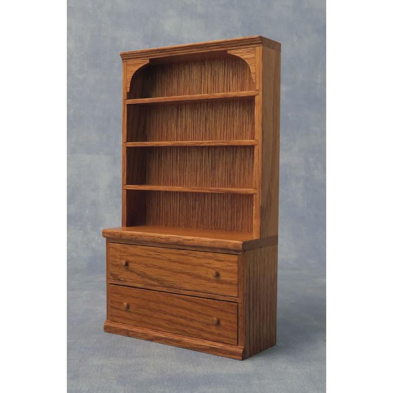 Babettes Miniaturen Oak Shelf Dresser
