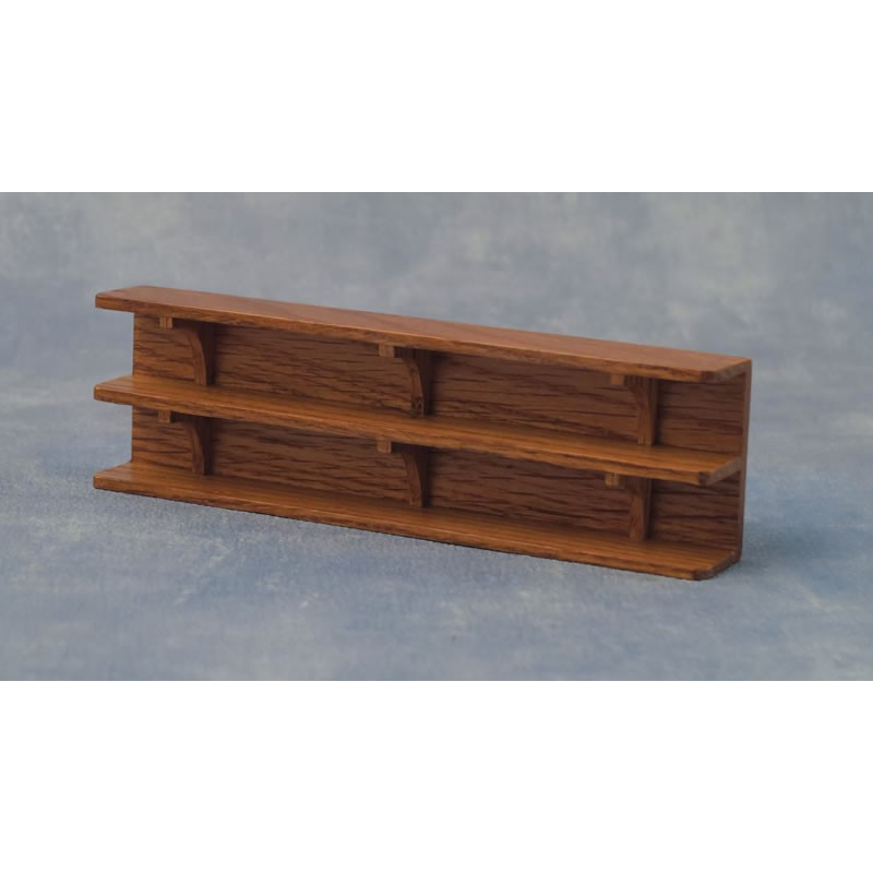 Babettes Miniaturen Wall Shelf Oak Long