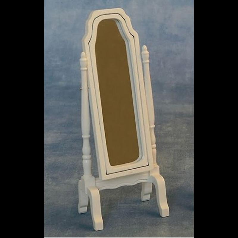 Babettes Miniaturen Full Length Mirror - White