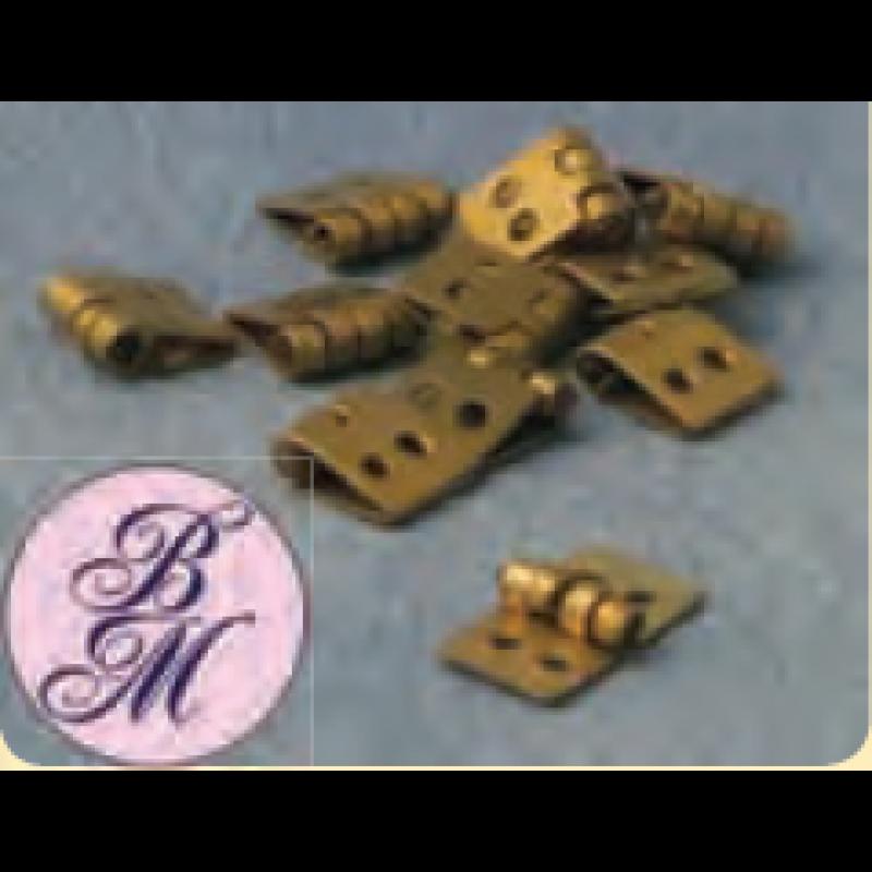 Babettes Miniaturen Brass Hinges 12 pcs