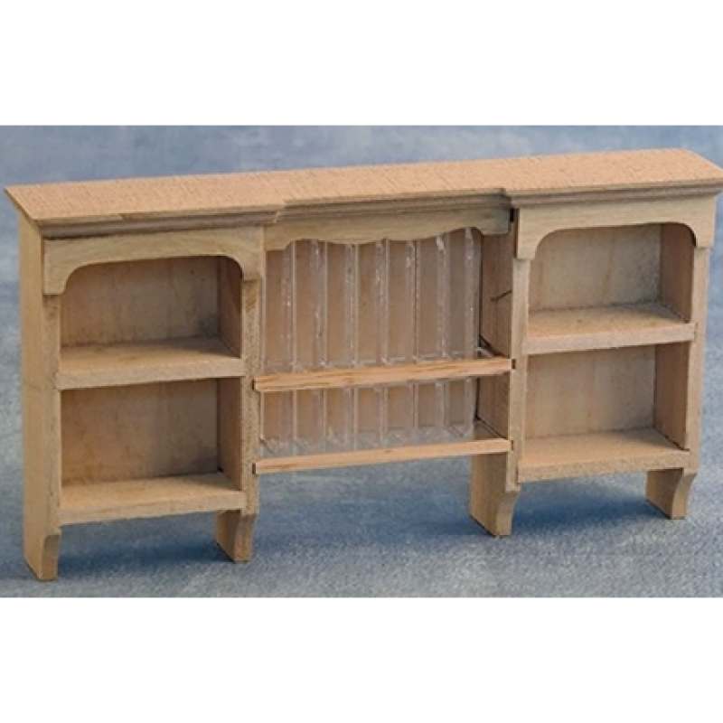 Bare Essentials Wall Shelf with Plate Rack