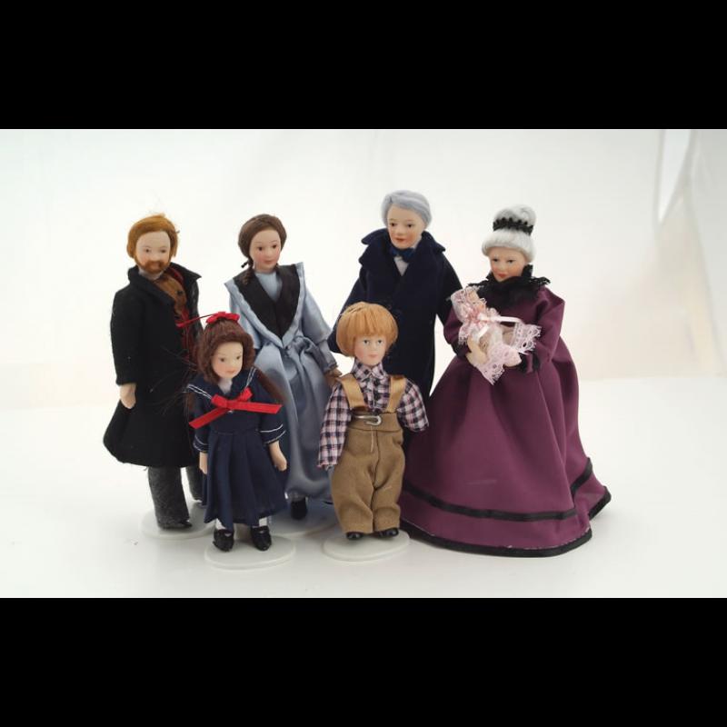 Victorian Family Set, 7 pieces