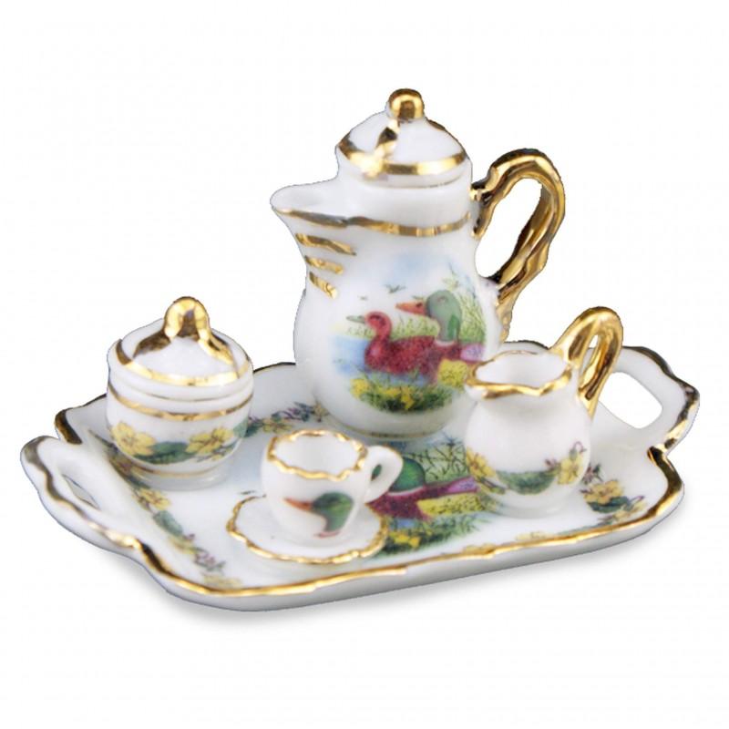 Duck Tea Set On Tray