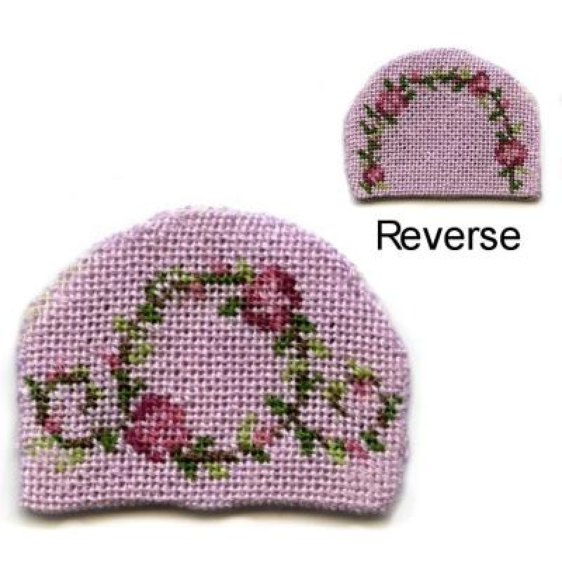 Flower Ring (pink) Dolls' House Needlepoint Teacosy Kit