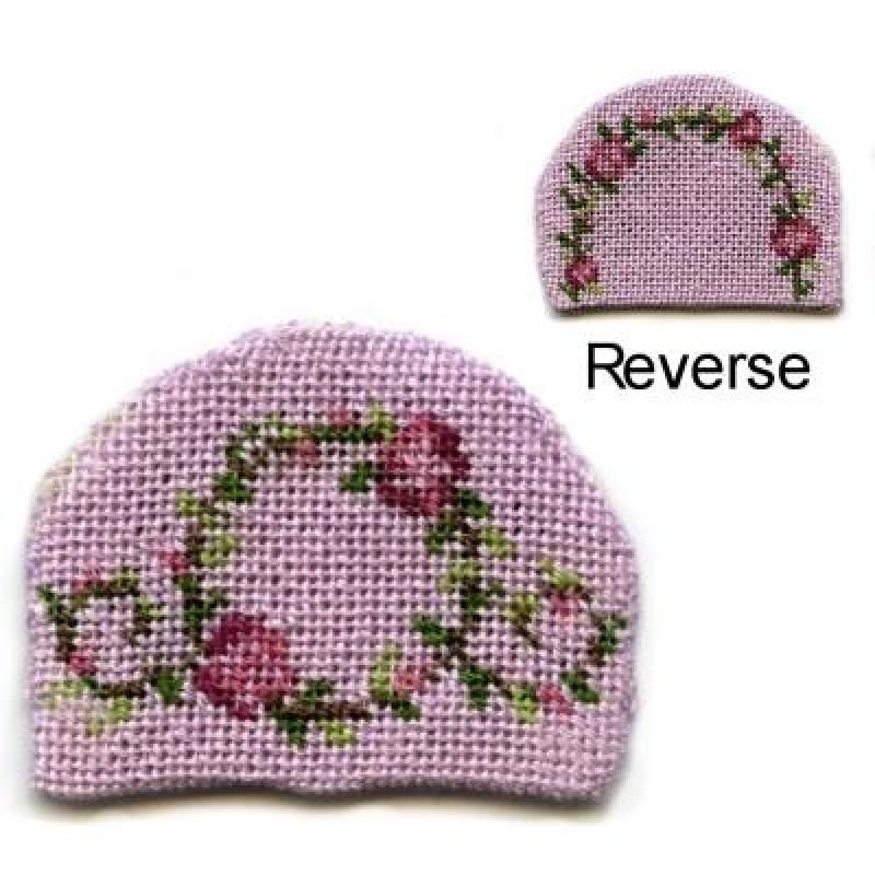 Flower Ring (pink) Dolls' House Needlepoint Teacosy Kit