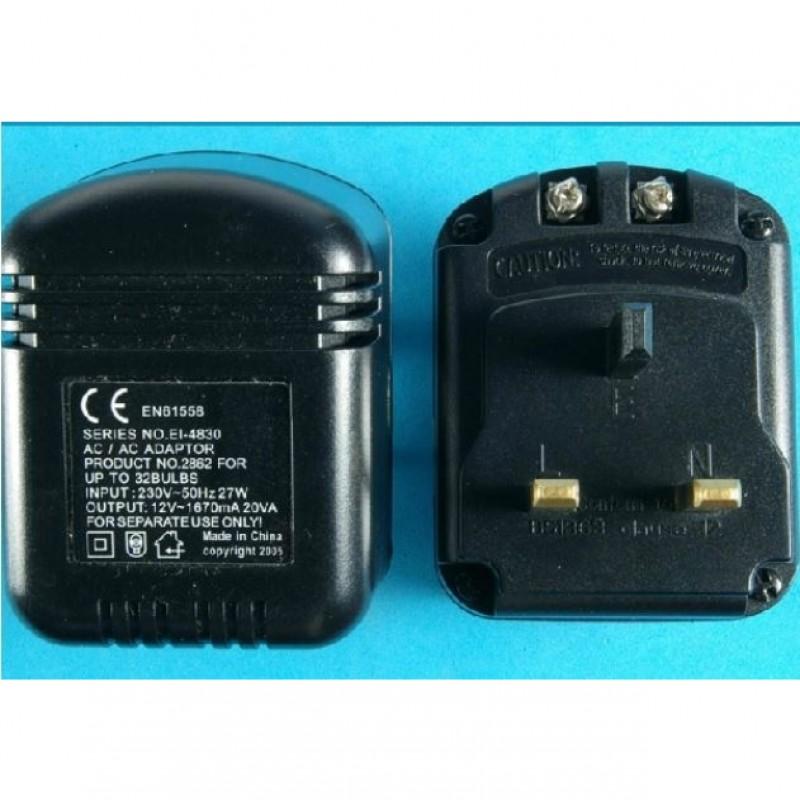 Transformer power for 1-32 Light bulbs. U.K. Plug