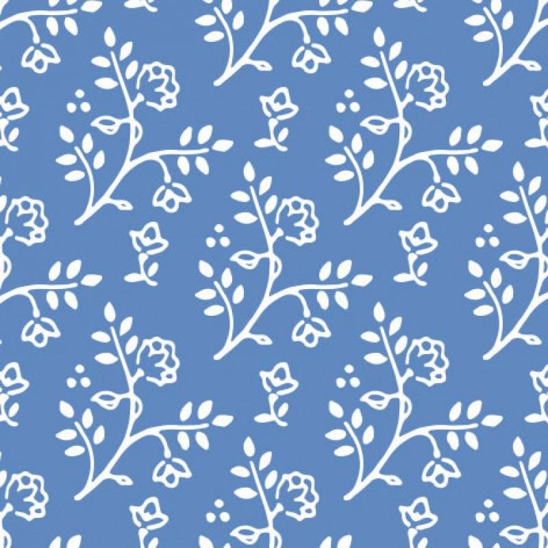 Small Interiors Julia White on Blue
