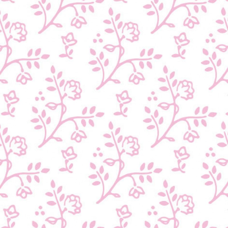 Small Interiors Julia Pink on White