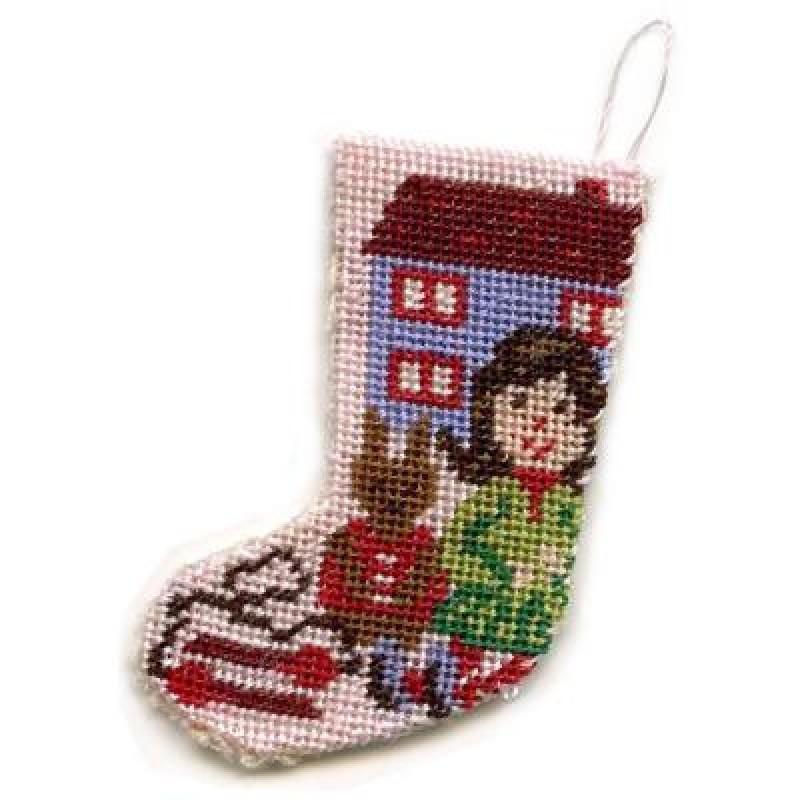Toys for Girls Dolls' House Needlepoint Christmas Stocking Kit