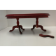 Twin Pedestal Dining Table Mahogany Finish ***SECONDS***