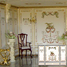 Dolls' house wallpaper