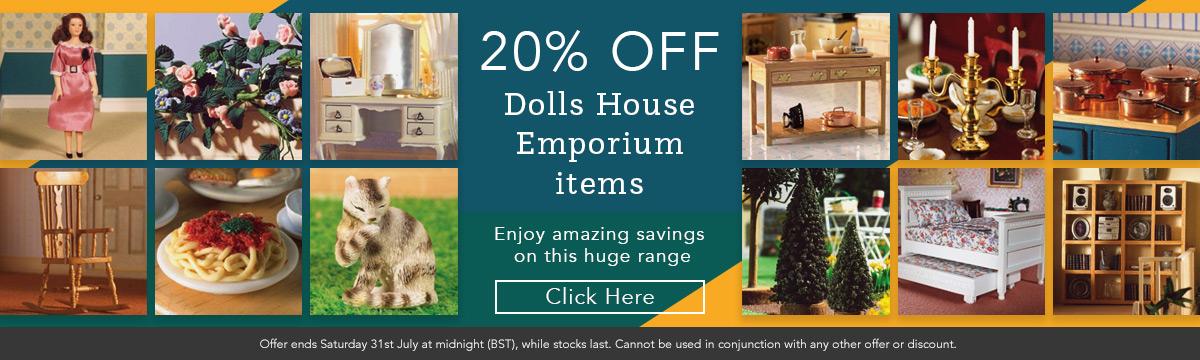 20% Off Dolls House Emporium Items
